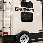 Every Crusader lite is built with our Eternabond technology. You will also notice the easy access to your spare tire, the bumper with sever hose storage and back up camera prep.