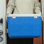 "Crusader's 30"" wide entry door makes it easy to carry large items like coolers without banging and scraping your hands."