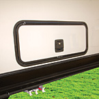 Heavy duty slam latch baggage doors are thicker and more durable than traditional baggage doors.