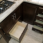 Large pots and pans drawers in select LaCrosse Models.