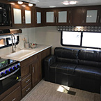 The Avenger ATI offers unmatched overhead storage, tons of countertop space, and a rear sofa for a place to relax.